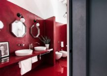 Stunning-contemporary-bathroom-in-bright-red-217x155