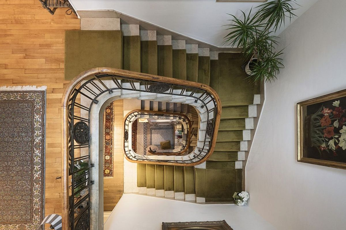 Stunning new staircase transforms 1920's manor house in Luxembourg