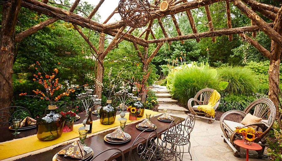 Take your Thanksgiving dinner party outdoors this fall! [From: Tamsin Design Group / Gregg Rannells Photography]