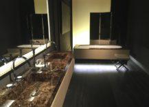Tone-on-tone bathroom design by Mitage