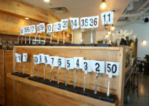 Vintage fork table numbers at Citizen Eatery