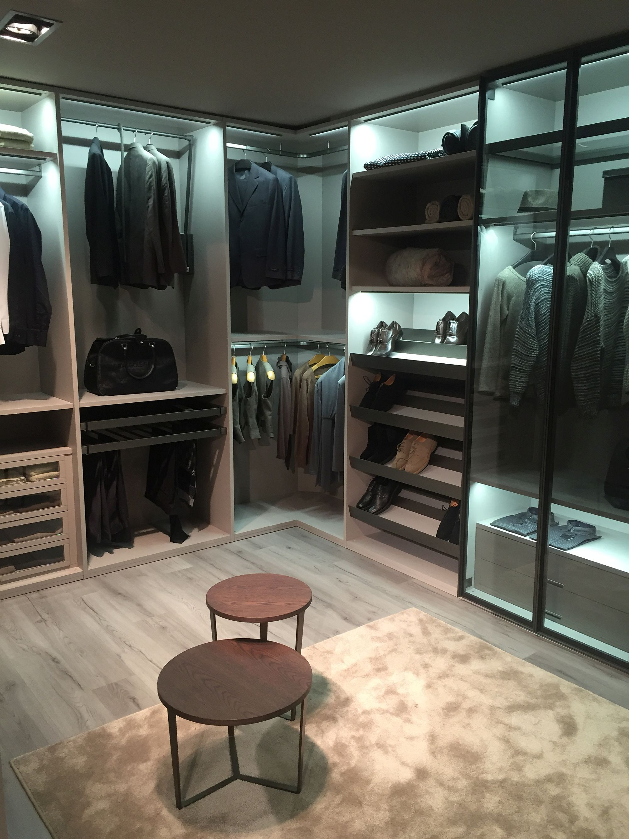 Walk-in wardrobe provide plenty of space for your entire collection