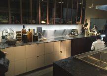 Warm tones in a grey kitchen