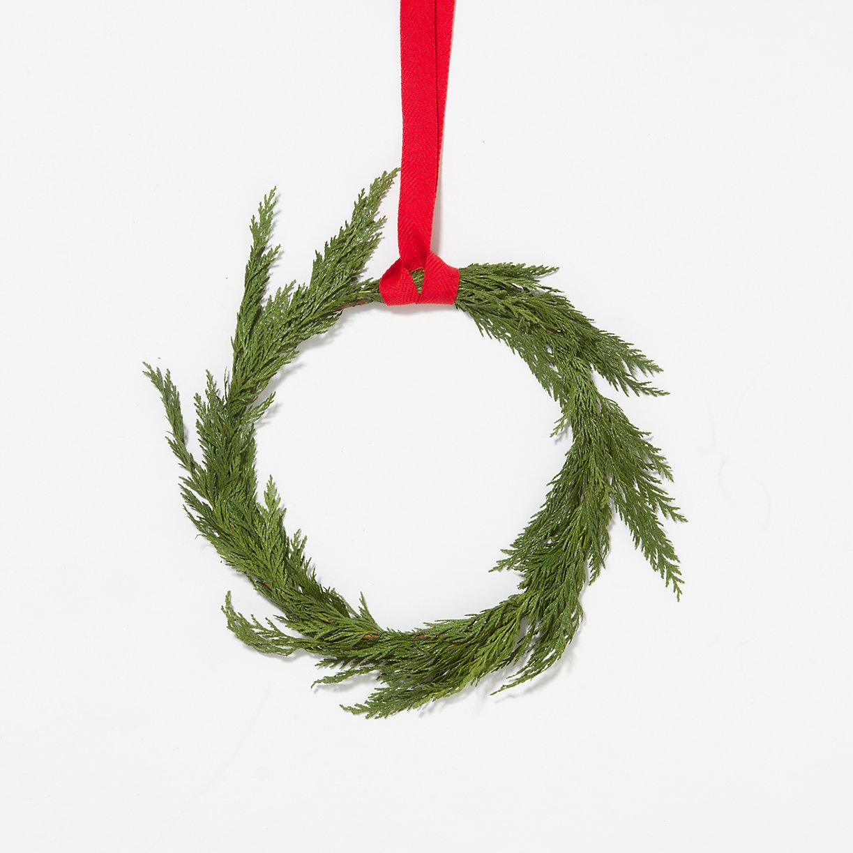 Affordable fresh cedar wreath from Terrain