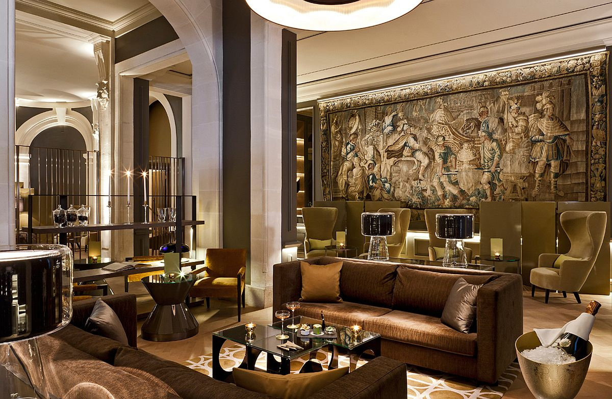 Art work on the wall adds to the opulence and uniqueness of Beau-Rivage Palace