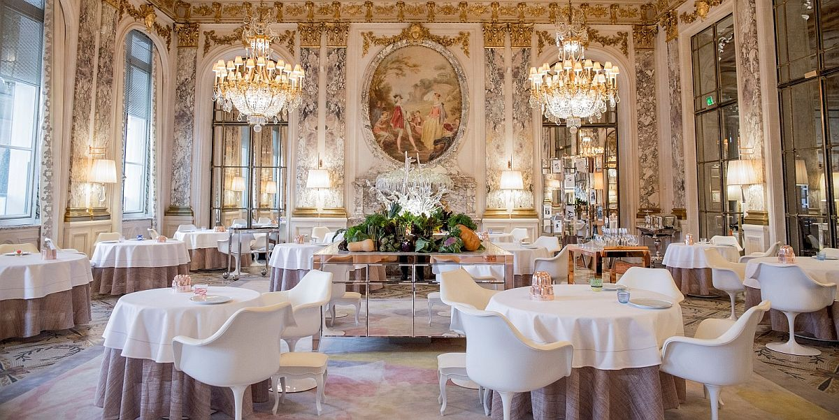 Awesome interior of the lavish Le Meurice in Paris