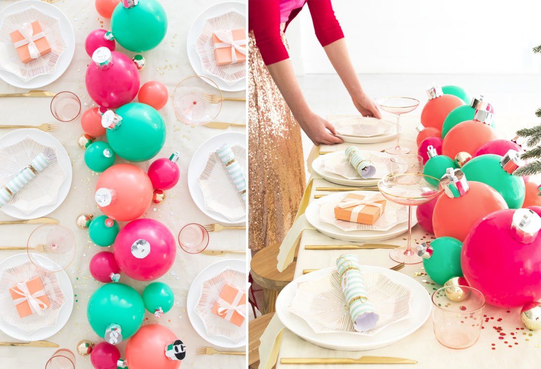 Balloon ornament centerpiece from Oh Happy Day