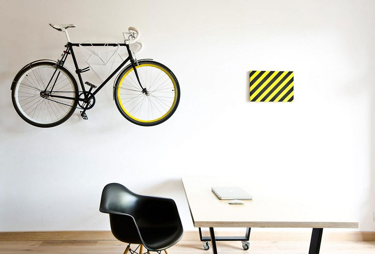 Bicycle used as decorative piece for home design