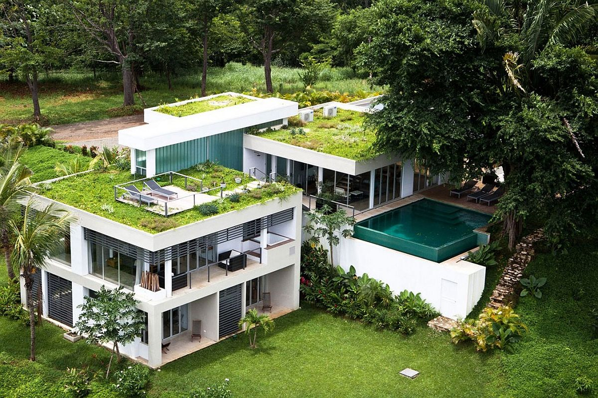 Green House Plans Designs eco-friendly design: 10 homes with gorgeous green roofs and terraces