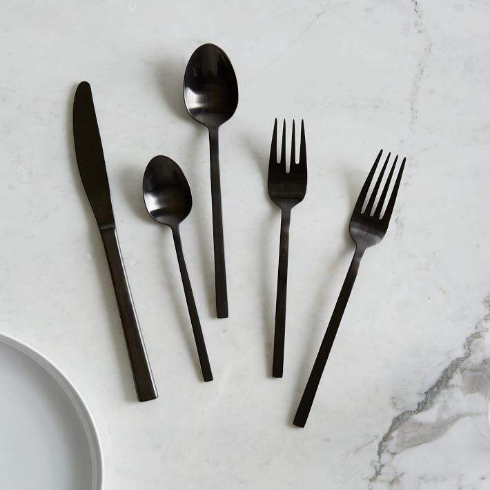 Black flatware from West Elm