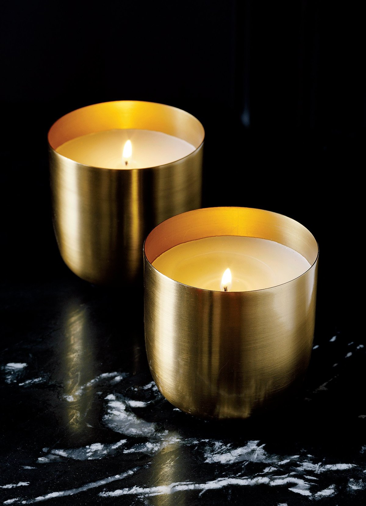 Brass Candle Bowls from CB2