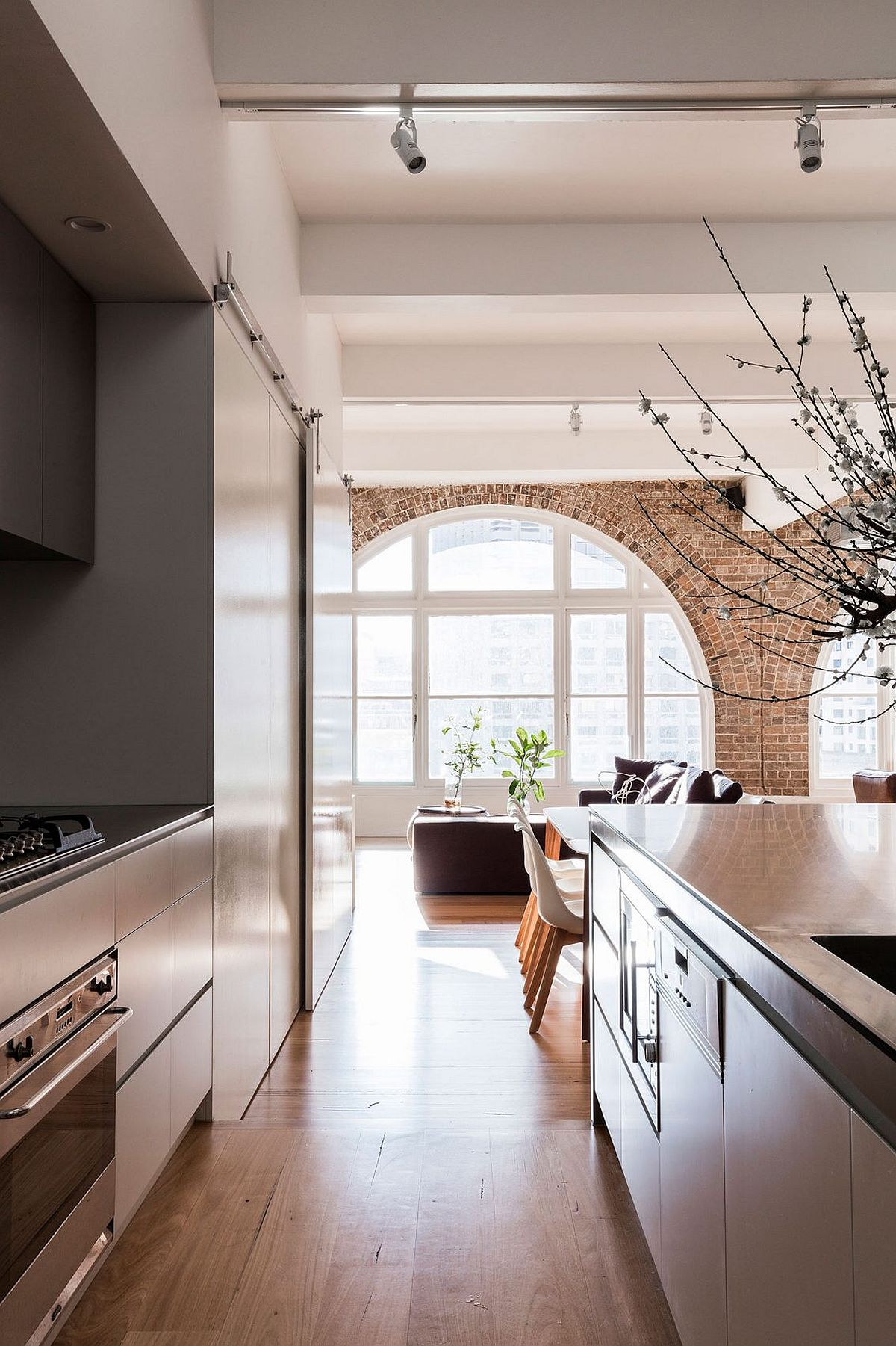 Classic windows and exposed brick walls coupled with modern aesthetics at Surry Hills
