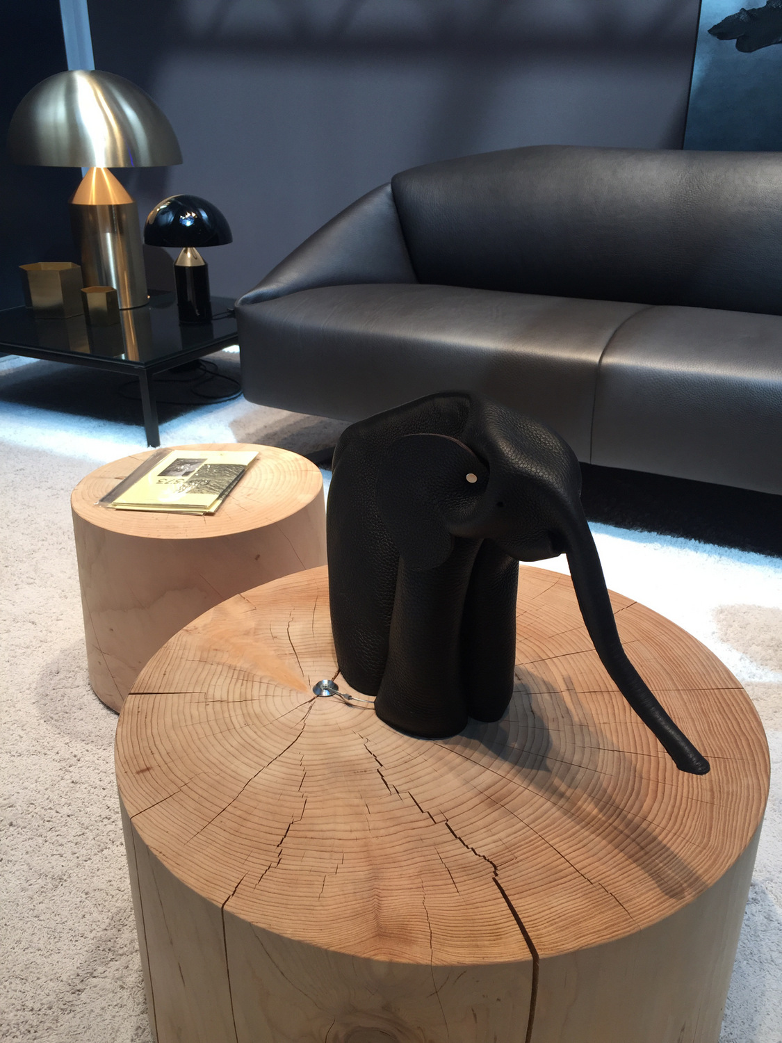 Coffee table with a sculptural elephant