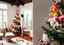 Colorful-and-brilliant-DIY-floral-Christmas-tree-217x155