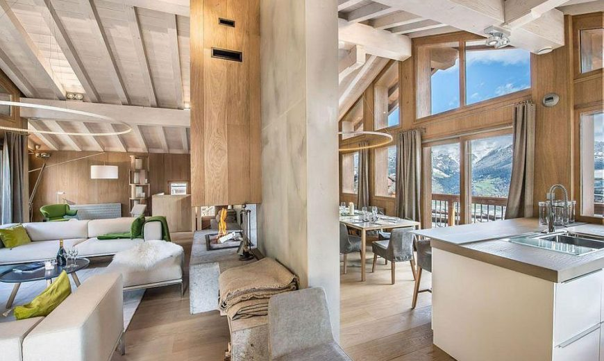 Snow-Clad Slopes and Alpine Magic: Modern and Cozy Chalet in France