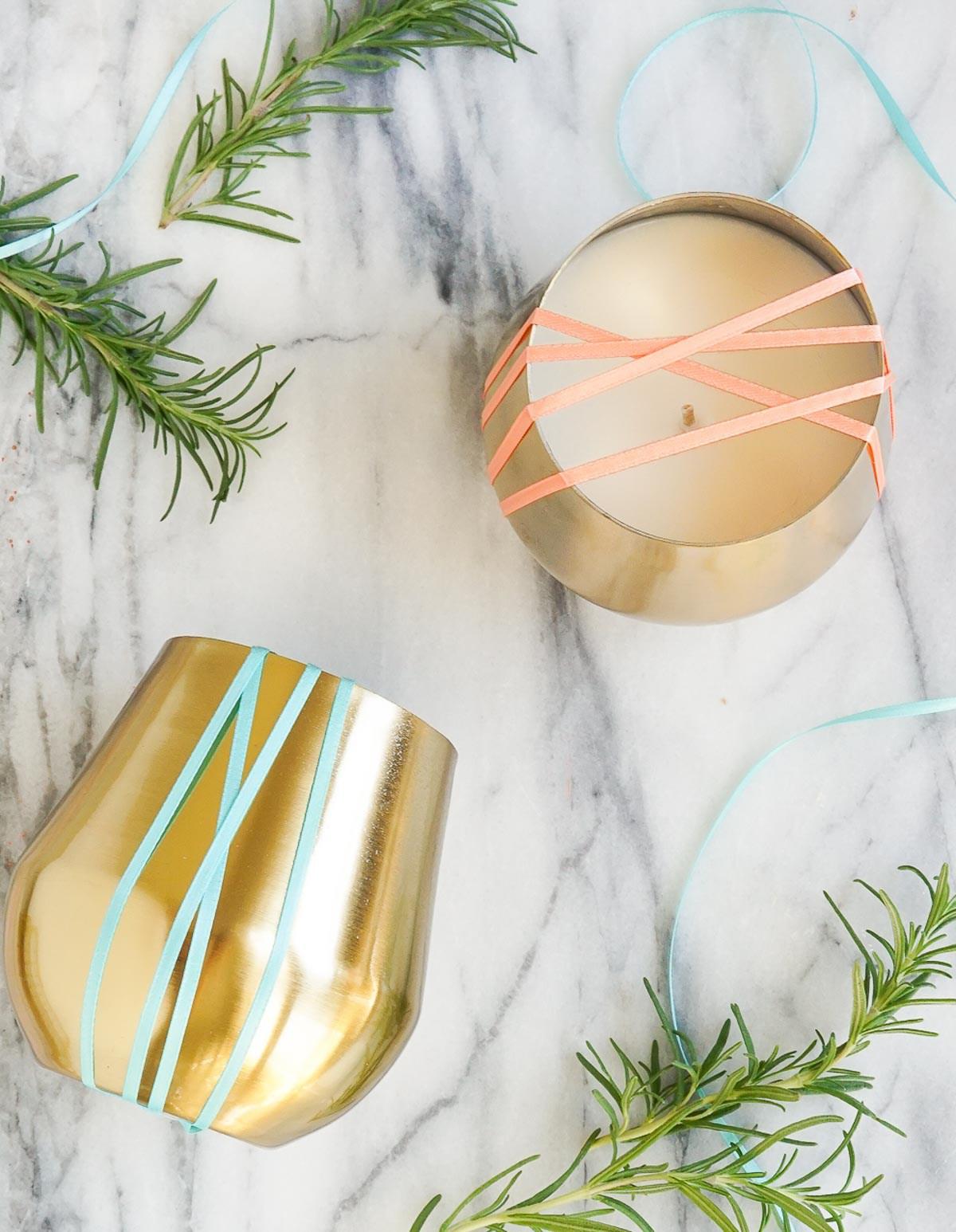 DIY candles from Sugar & Cloth