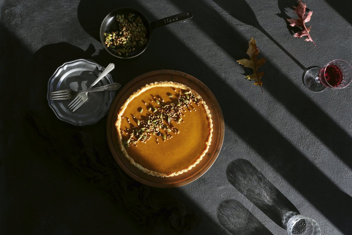 Delicious pumpkin tart from EyeSwoon