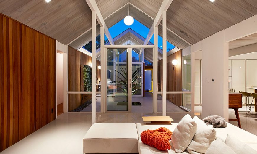 Wrapped in Wood: Modern Remodel of Double Gable Eichler Home