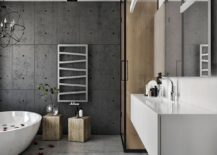 Exposed-cement-wall-for-the-modern-bathroom-in-neutral-hues-217x155