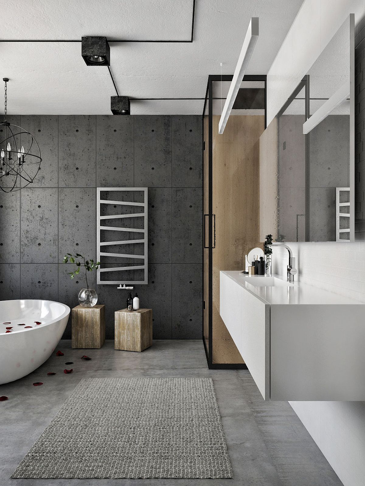 Exposed Concrete Walls Ideas Inspiration: Modern Loft In Kaunas: Industrial Style Wrapped In