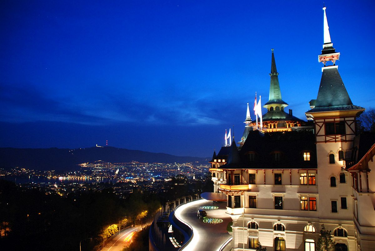 Fabulous Dolder Grand at night Swiss Bliss: 25 Top Luxury Hotels and Spas in Switzerland