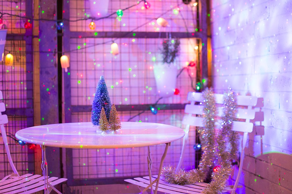 Festive holiday patio from Random Acts of Pastel