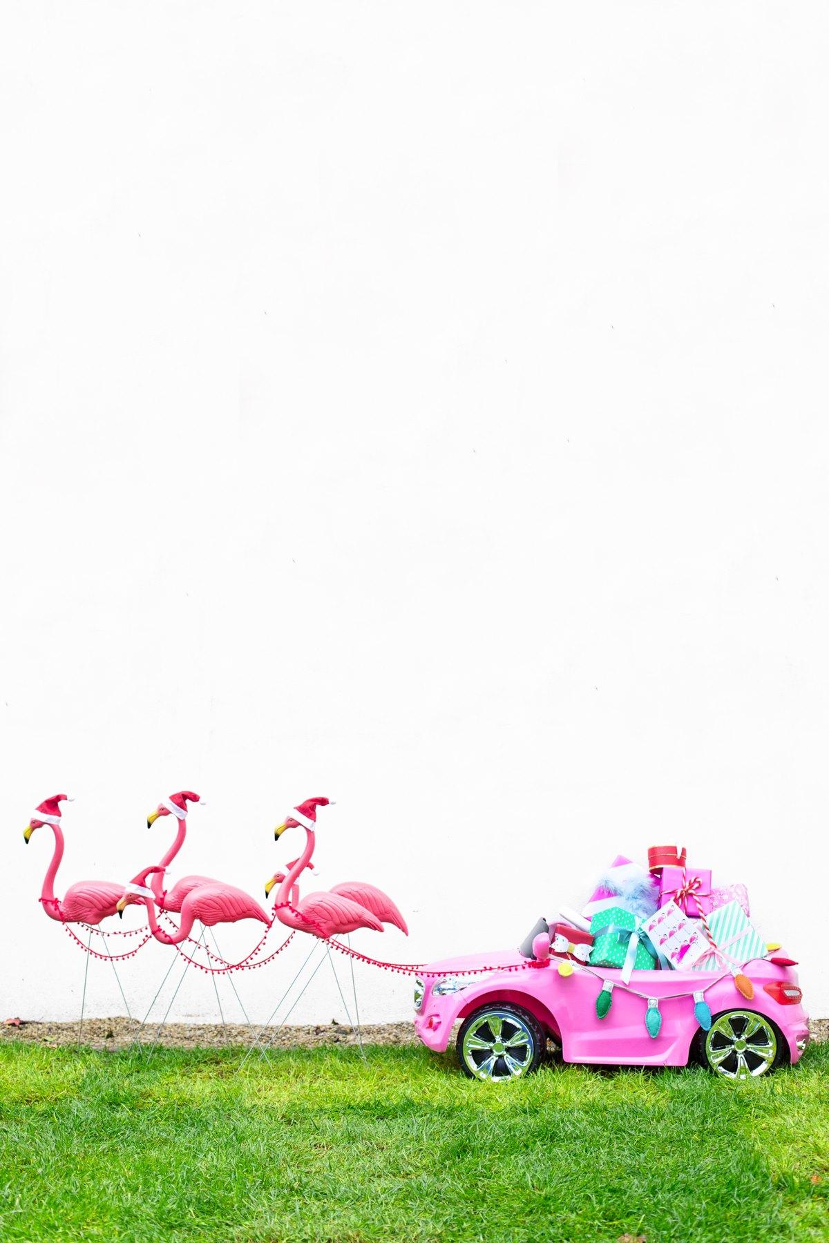 Flamingo sleigh from Studio DIY