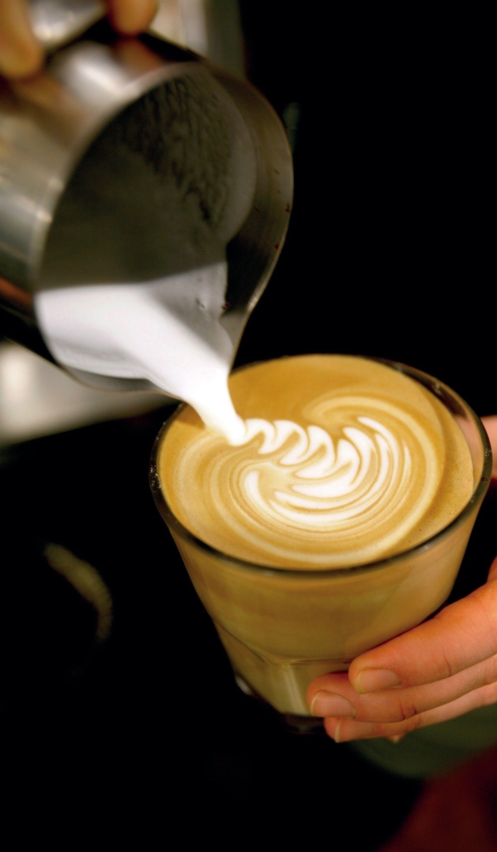 Originating in Australia and New Zealand, the flat white is served with astrong shot of espresso in a small cup with textured milk. Image© 2016 Time Out England Limited.