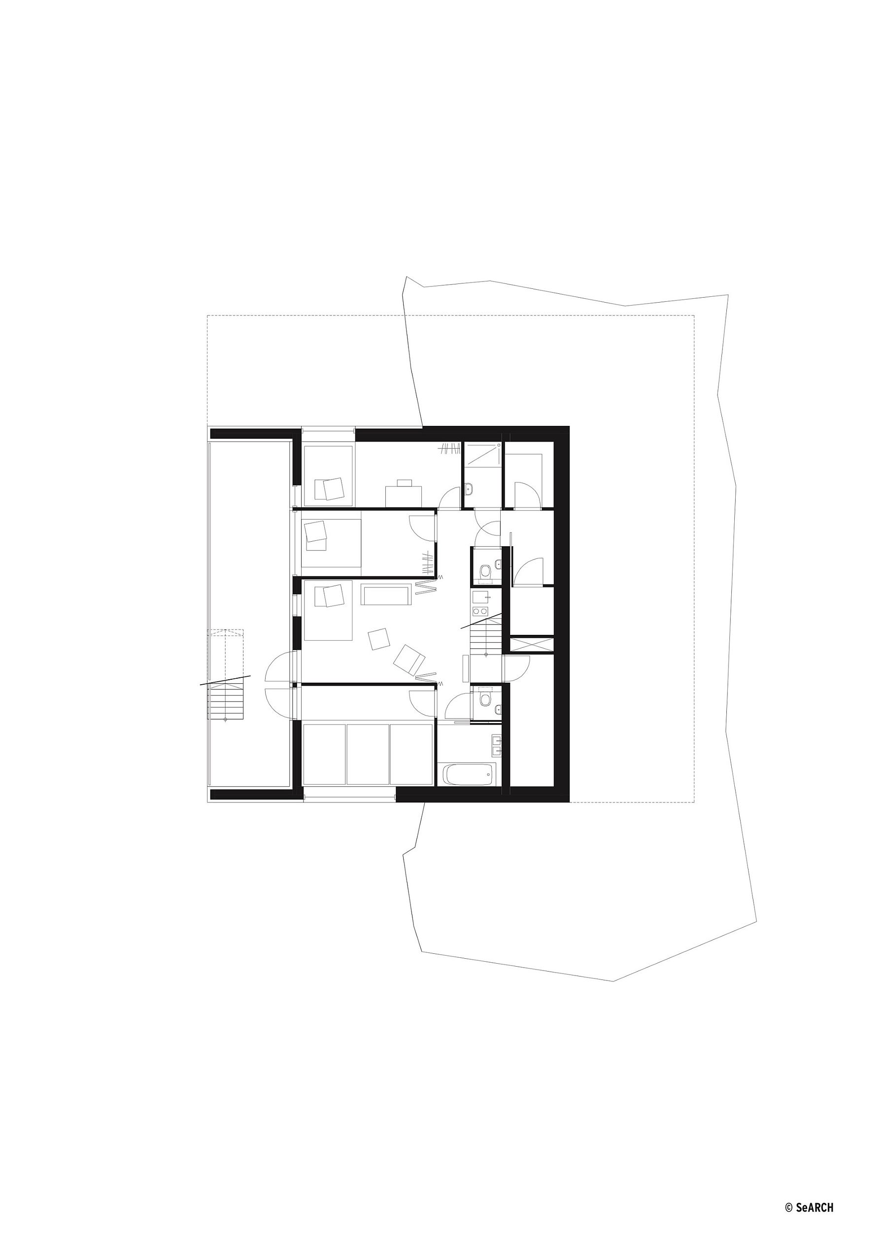Floor plan of Chalet Anzère