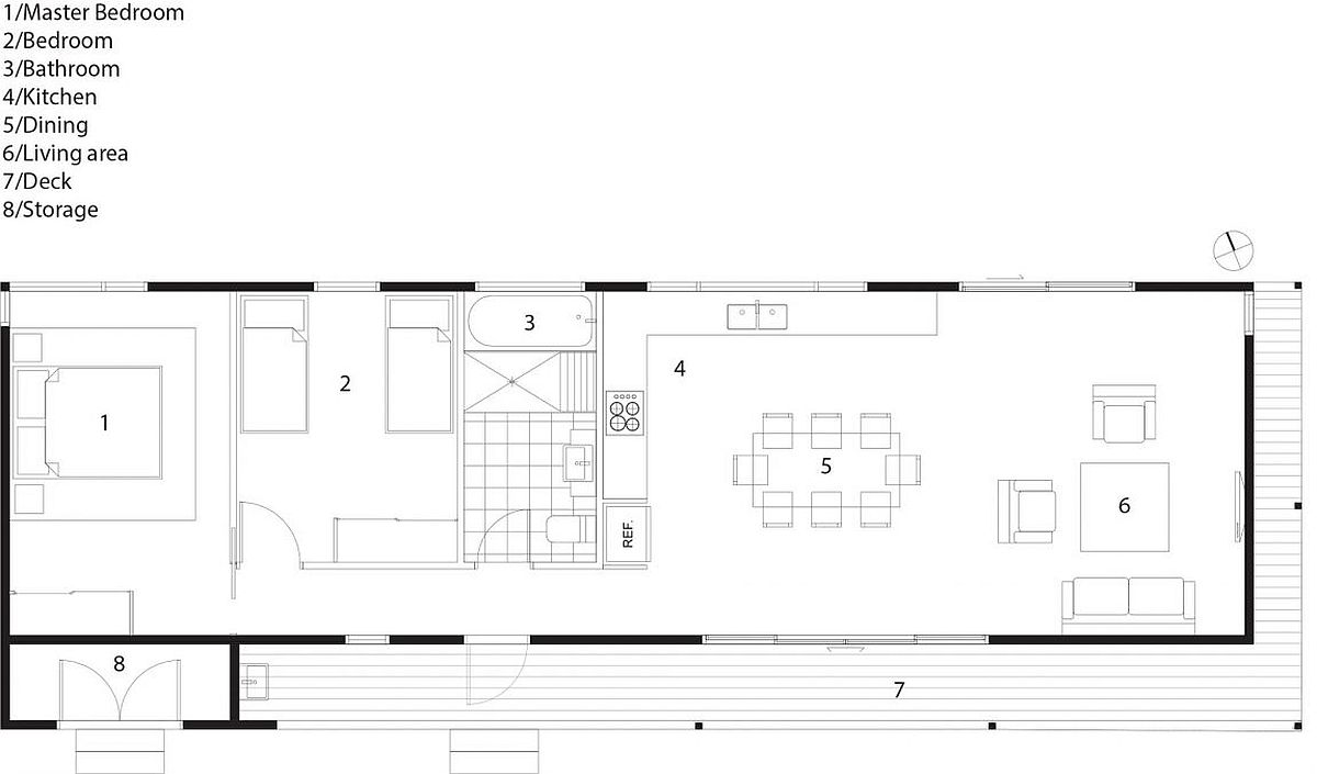 Floor plan of contemporay home on Avalon Beach by Archiblox