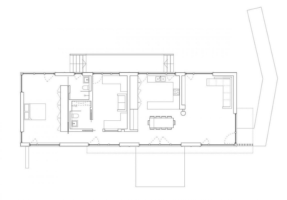 Floor plan of mobile, contemporary Forest Lodge