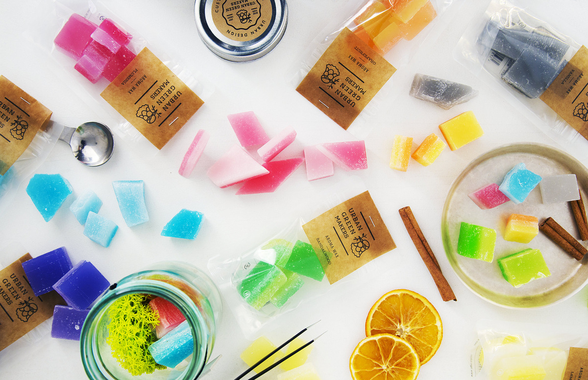 Fragrant wax chunks from Urban Green Makers