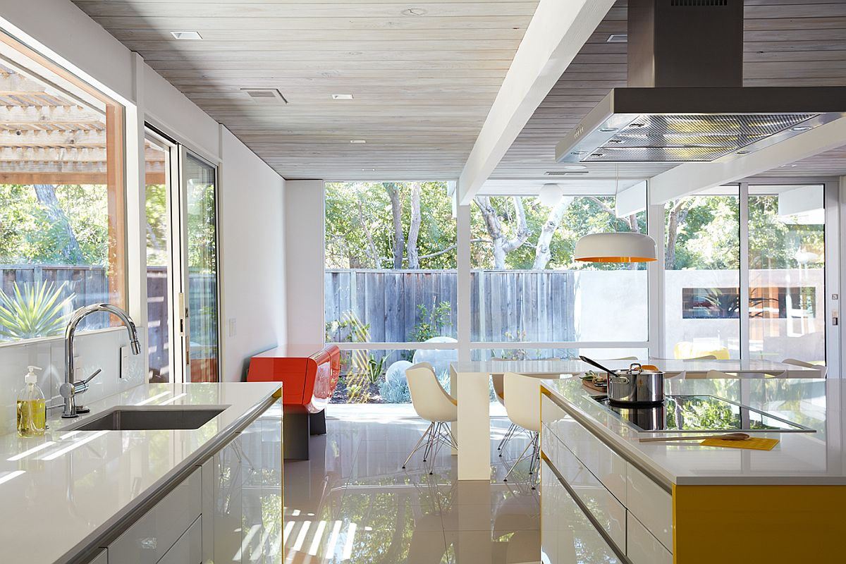 Glossy floor of the home in Silicon Valley adds to its allure