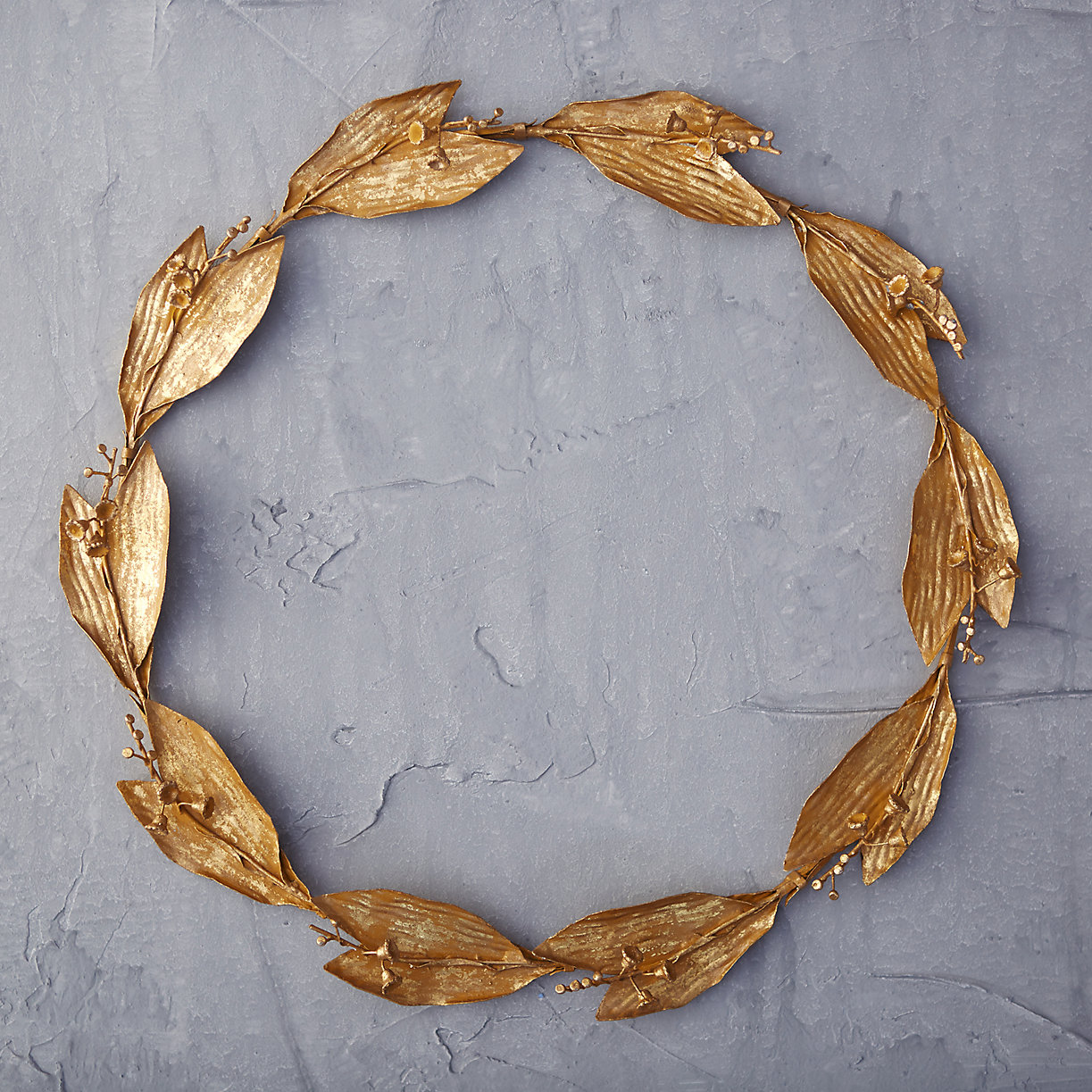 Gold lily wreath from Terrain
