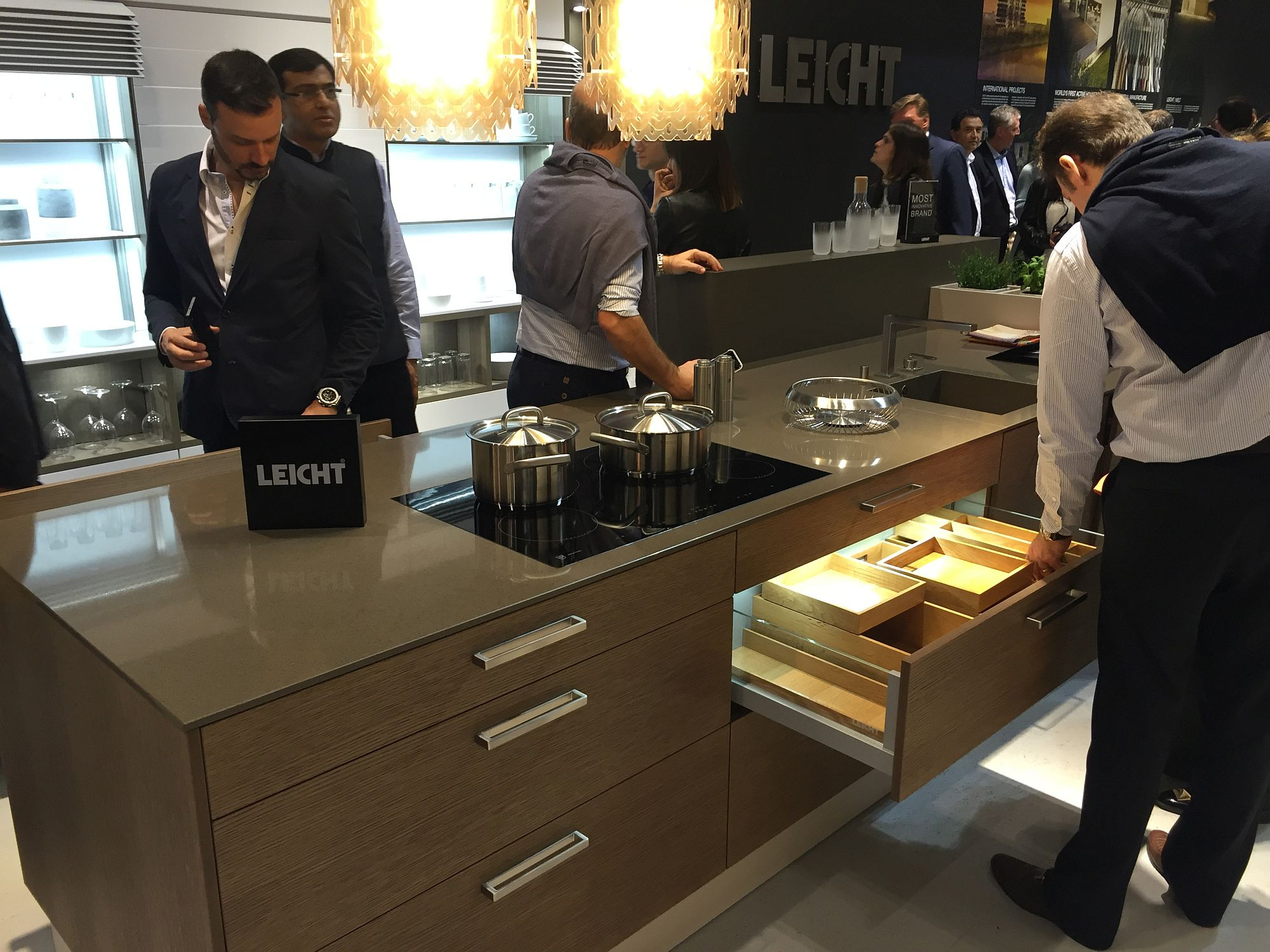 Gorgeous kitchen island with smart storage solutions from Leicht