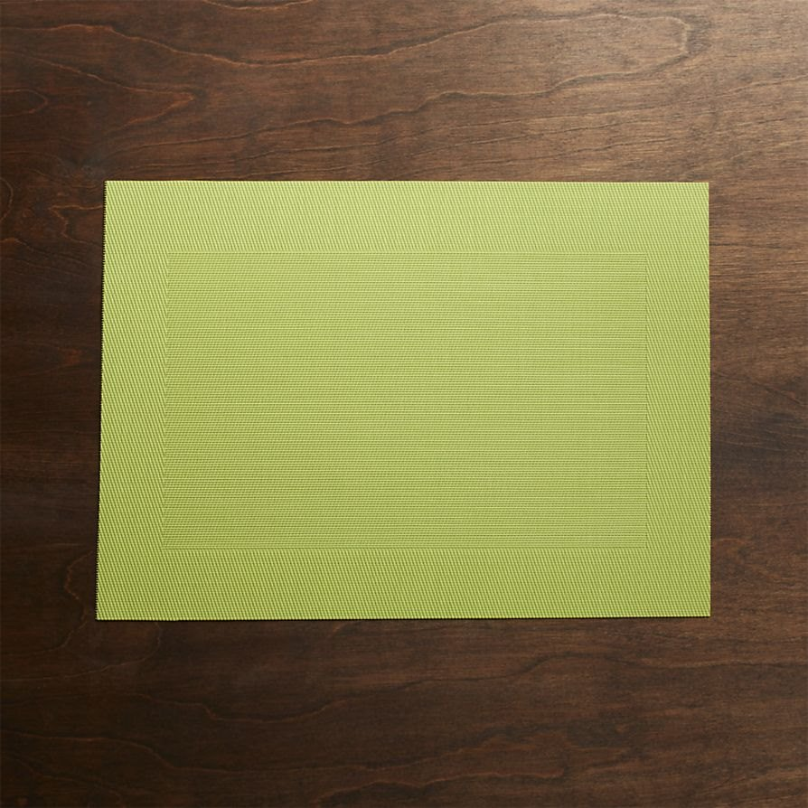 Green placemat from Crate & Barrel