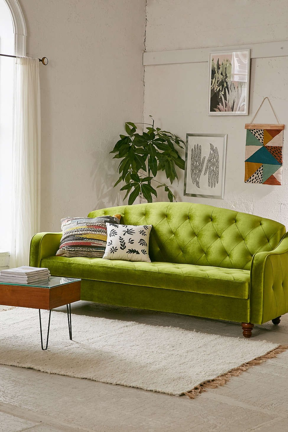 Green sleeper sofa