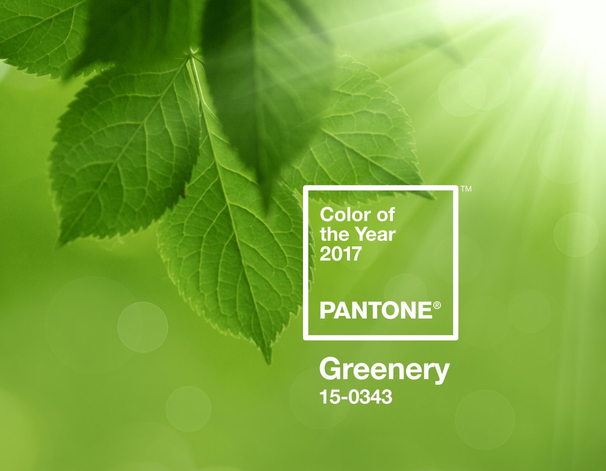 Greenery, PANTONE's Color of the Year 2017