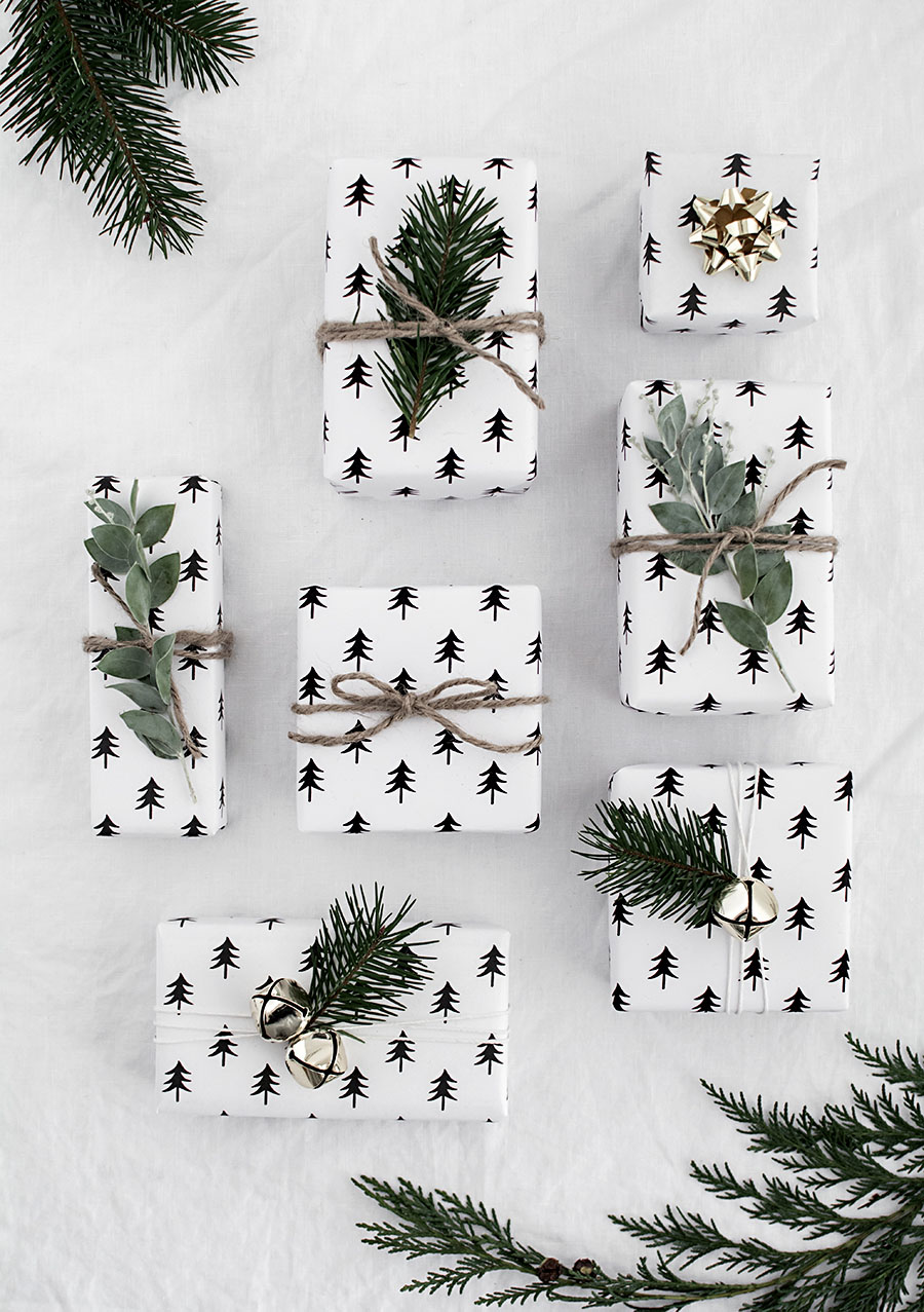 Greenery-embellished gifts from Homey Oh My