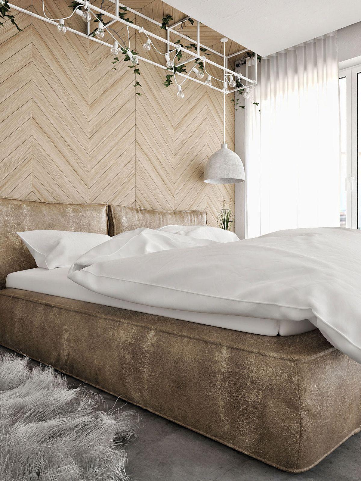 Innovative contemporary bedroom lighting idea