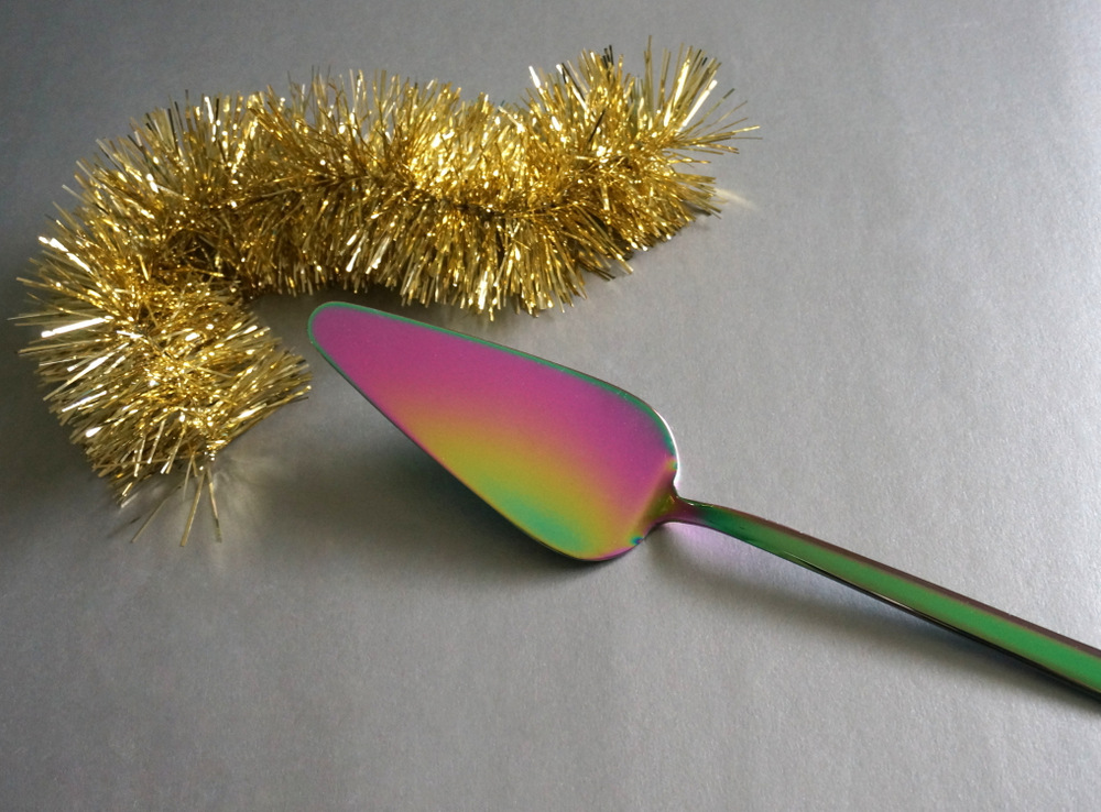 Iridescent cake server from CB2