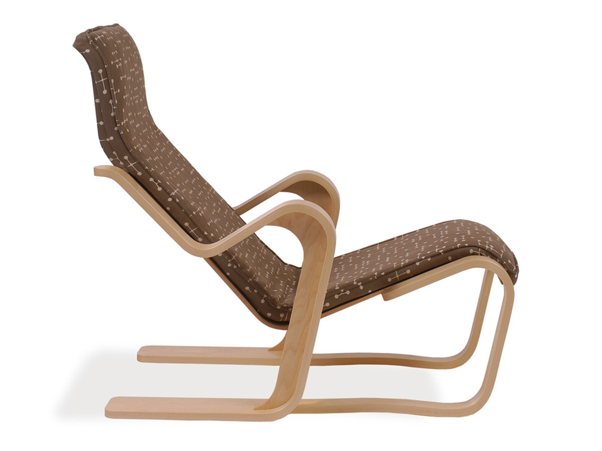 Isokon Short Chair with seat pad.