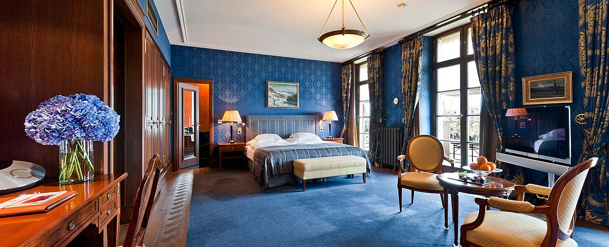 Lavish suite at Grand Hotel Les Trois Rois