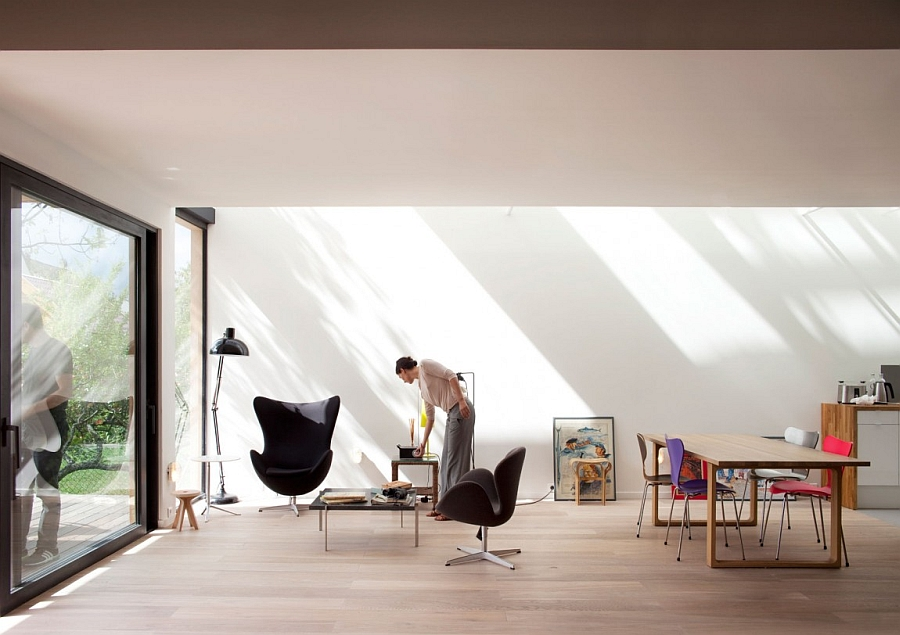 Living room of energy-efficient home in Paris