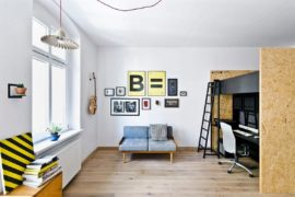 Kid-Friendly Multifunctional Design Studio and Apartment in Poznan