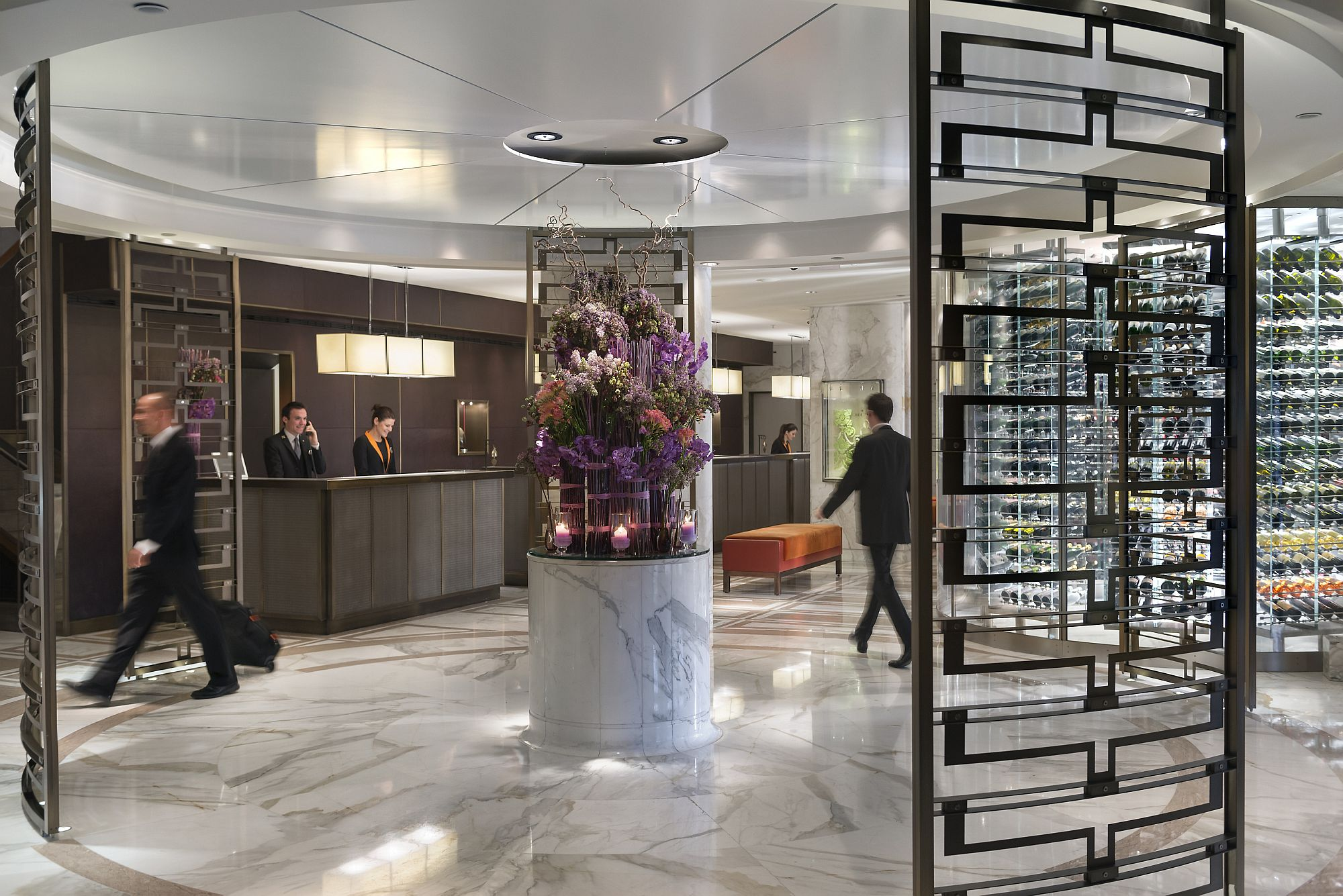 Lobby of the Mandarin Oriental, Geneva