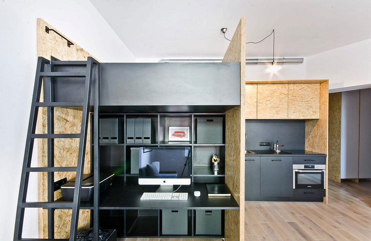 Kid friendly multifunctional design studio and apartment in poznan