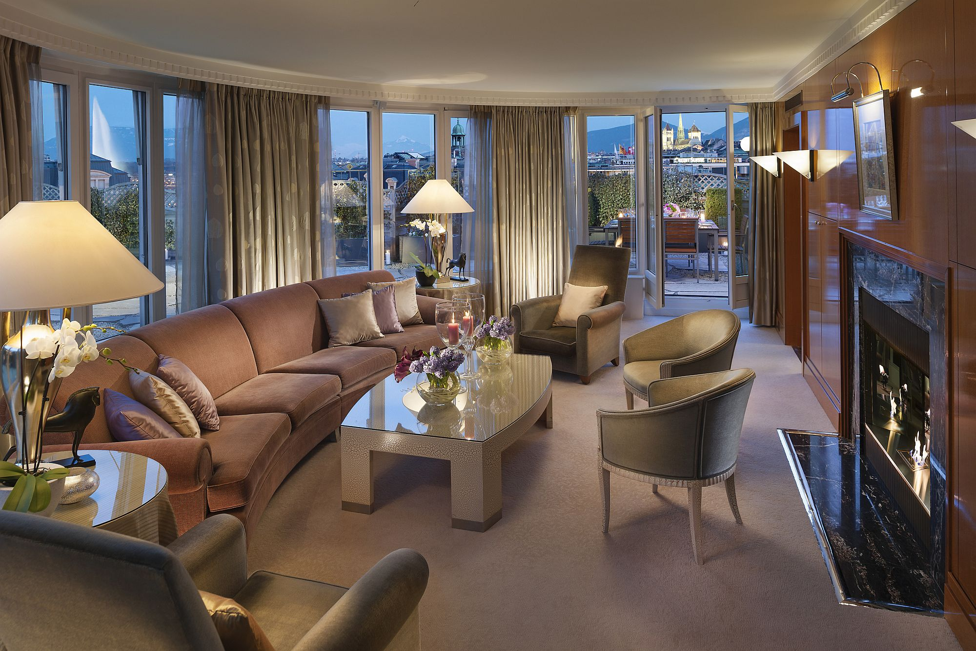 Look inisde the Panorama Suite of the Mandarin Oriental, Geneva