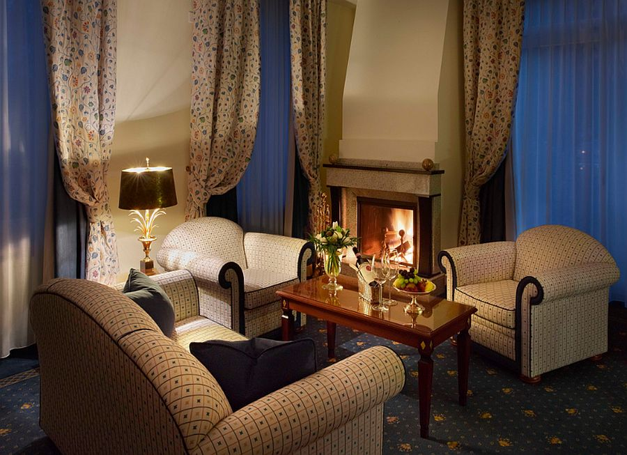 Luxurious suite at the Grand Hotel Kronenhof