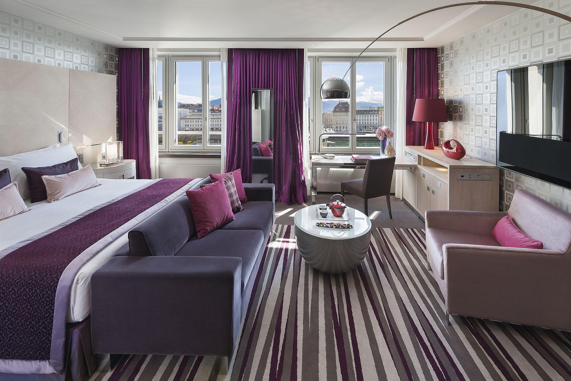 Mandarin Suite at the lavish Swiss Hotel that drapes you in luxury